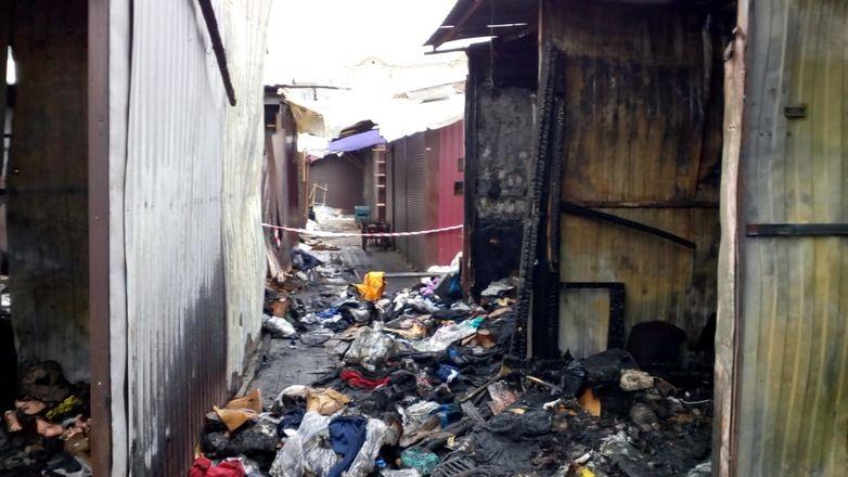 ГУ МЧС по региону показало, как выглядит Канавинский рынок после пожара - фото 2